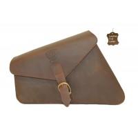 Side Panniers Bag Leather Left Brown Ranger 5.5 ltr